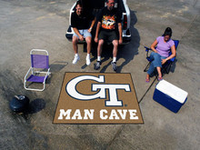 Georgia Tech Man Cave Tailgater Rug