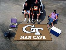 Georgia Tech Man Cave Utility Mat Rug