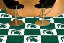 """Michigan State Carpet Tiles 18""""x18"""""""