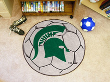 Michigan State Soccer Ball Rug