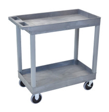 18 x 32 Heavy Duty Gray Tub Cart 2 Shelves Model EC11HD-G