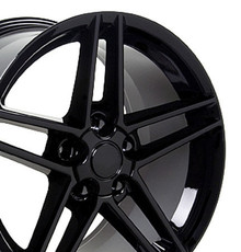 "19"" Fits Chevrolet - Corvette C6 Z06 Wheel - Black 19x10"