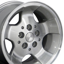 "15"" Fits Jeep - New Wrangler Replica Wheel - Silver 15x8"