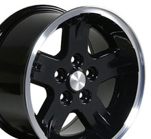 "15"" Fits Jeep - Wrangler Wheel - Black 15x8"