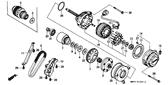 Genuine Honda 1000 Hurricane 1987 A.C. Generator Drive (70Le) Chain Part 9: 28161MM5003 (849274)