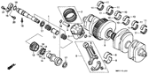Genuine Honda 1000 Hurricane 1987 Balancer Shaft Holder Part 15: 13436MM5000 (881981)