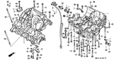 Genuine Honda 1000 Hurricane 1987 Crankcase Set Part 1: 11000MM5000 (881899)