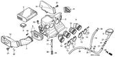 Genuine Honda 1000 Hurricane 1987 Air Cleaner Case Complete Part 3: 17215MM5000 (886131)