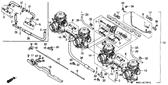 Genuine Honda 1000 Hurricane 1987 Tube Part 28: 16199MM5601 (886021)