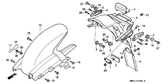 Genuine Honda 1000 Hurricane 1987 Accessories & Loading Caution Mark Part 14: 87512MA4670 (890224)