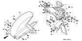 Genuine Honda 1000 Hurricane 1987 Accessories & Loading Caution (French) Mark Part 14: 87512MA4720 (890225)