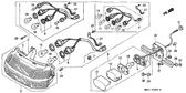 Genuine Honda 1000 Hurricane 1987 Base Complete Part 9: 33721MB2003 (898303)