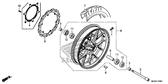 Sale Genuine Honda CB500F 2013 Front Wheel Sub Assembly Part 6: 44650MGZJ00 (929802)
