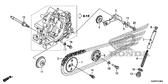 Genuine Honda FS1101SH 2012 Cam Chain Guide Roller Complete Part 9: 14610KWB600 (946537)