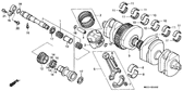 Genuine Honda CB1000 1993 11.9X2.2 O-Ring Part 33: 91370461000 (951287)