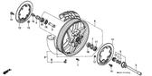Genuine Honda 600 Hurricane 1988 45X55x5 (Nok) Dust Seal Part 17: 91258ML7004 (975877)