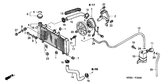 Sale Genuine Honda CBF600S ABS 2005 Radiator Set Part 4: 19020MERD00 (982959)