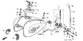 Genuine Honda VALKYRIE 2003 Rear Fuel Tank Cushion Part 11: 17613MM8000 (990055)