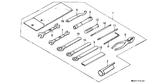Genuine Honda XBR500 1987 10X12 Spanner Part 7: 9900110120 (1269981)