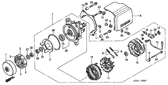 SALE Genuine Honda VALKYRIE 2001 A.C. Generator Cover Part 6: 21333MZ0A00 (1790209)