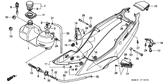 Genuine Honda NSR125R 1999 Headlight Bracket Boot Part 13: 61312149300 (1909521)