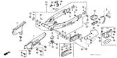 Genuine Honda XR600R 1989 Chain Guide Part 18: 52146MN1671 (2113051)