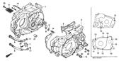 Genuine Honda XR600R 1995 Right Crankcase Complete Part 1: 11100MN1670 (2169234)