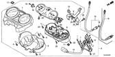 Genuine Honda GLH125SH 2012 Meter Bracket Complete Part 6: 37130KVX600 (2339709)