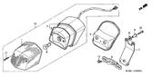 Genuine Honda Shadow VT125C 2006 Taillight (Stanley) Lens Part 1: 33702KGB611 (2370705)