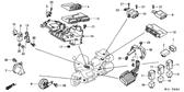 Genuine Honda Gold Wing 2001 - 2005 Abs Control Unit Part 12: 38600MCA971 (GL18000105)
