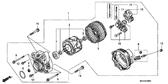 Genuine Honda Gold Wing 2001 - 2004 Flywheel Type A.C. Generator Assembly Part 1: 31100MCA700 (GL18000104)