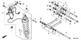 Genuine Honda Gold Wing 2009 Rear Cushion Assembly Part 2: 52400MCAD32 (2168659)