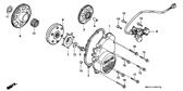 Genuine Honda CBR500F 1987 10X44 Pin Part 4: 28102ME9000 (46652)