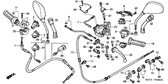 Genuine Honda @125 2003 Brake Lock Arm Return Spring Part 31: 53188GCS000 (166820)