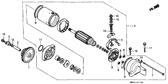 Genuine Honda CBR1000F 1987 10X44 Pin Part 2: 28102ME9000 (192219)