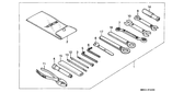 Genuine Honda CBR1000F 1987 10X12 Spanner Part 9: 9900110120 (204236)