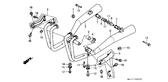 Sale Genuine Honda CBX750P 1990 Right Exhaust Muffler Complete Part 2: 18300MJ1841 (256372)