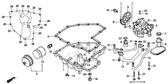 Genuine Honda CBR1000F 1997 10X10 Dowel Pin Part 19: 90702MJ4000 (594495)
