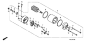 Genuine Honda CB1100 ABS 2010 13X22x5 (Arai) Oil Seal Part 20: 91204KE8003 (602701)