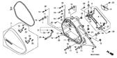 Genuine Honda Deauville 2007 Right Saddlebag Body Assembly Part 6: 81220MEW920 (758727)
