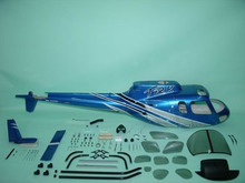 FUNKEY Scale fuselage AS350 Ecureuil .50 (600) size Silver & Blue with Landing Skid