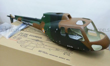FUNKEY Scale Fuselage AS350 Ecureuil (A-STAR) .50 (600) size Weathered Camouflage Color with Landing Skid