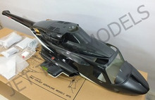FUNKEY Scale Fuselage AIRWOLF .50(600)size Black Color with Retract Landing System.