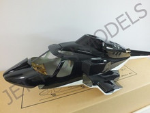 FUNKEY Scale Fuselage Airwolf .30 (550) size Black Color with Retractable Landing Gear
