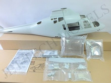 FUNKEY Scale Fuselage Agusta 109A  .60 (700) size kit (Unpainted Version) with Fixed Landing gear
