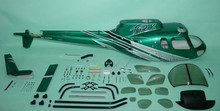 FUNKEY Scale fuselage AS350 Ecureuil .50 (600) size Silver Green Color with Landing Skid
