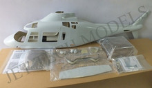 FUNKEY Scale Fuselage Agusta 109A .50 (600) size KIT (Unpainted Version) with Fixed Landing gear