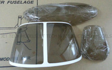 FUNKEY Canopy ( Windshield ) for JET RANGER .50 / 600 size fuselage