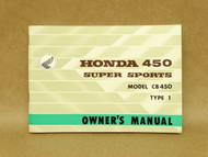 NOS Honda CB450 K0 Type 1 Black Bomber Owners Manual 11/1965 Print Date