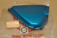 NOS Honda CB100 K0 Right Side Cover Candy Blue Green 83540-107-770 AZ